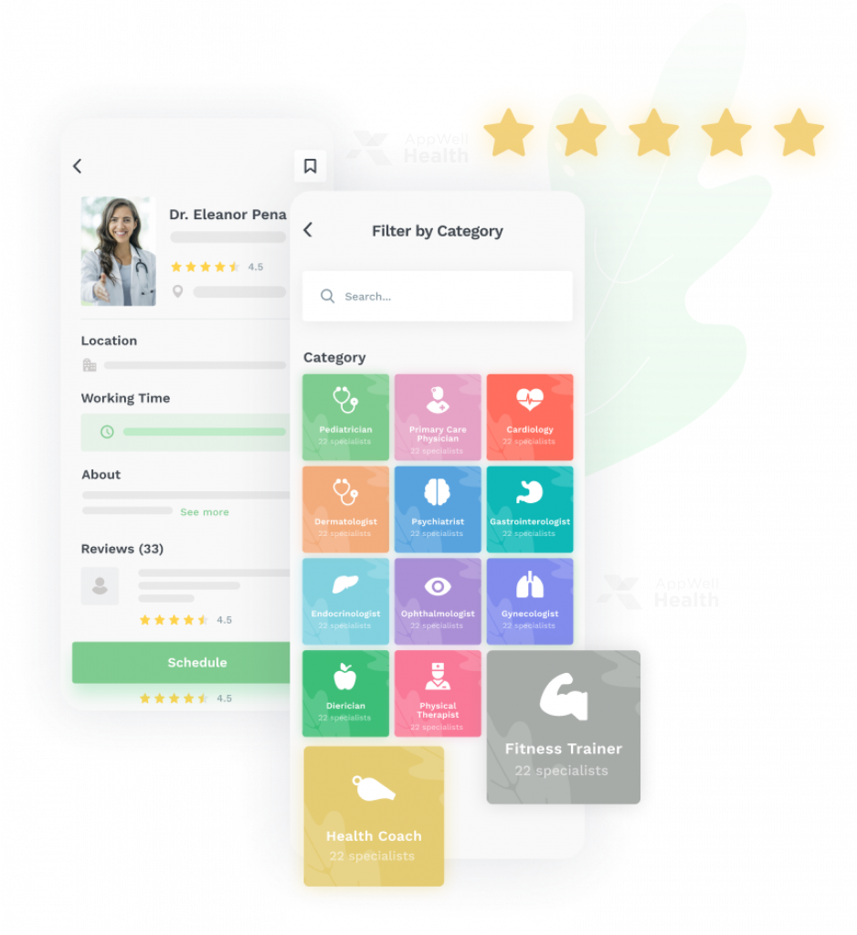 AppWell Health - Provider Directories app feature
